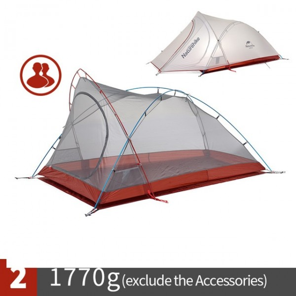 Lozkis Cirrus Ultralight Tent 2 Person 20D Nylon with Silicon Coated Camping Tent with free Mat NH17T0071-T