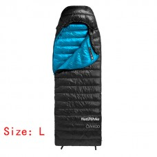 Lozkis CW400 Envelope Type White Goose Down sleeping bag Winter Warm Sleeping Bags  NH18C400-D