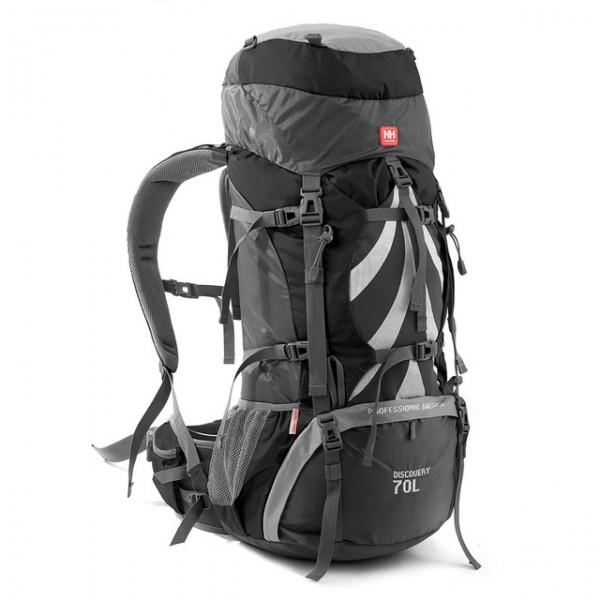 Lozkis Professional Outdoor Backpack Big Capacity 70L Outdoor Climbing Bag with Support System NH70B070-B