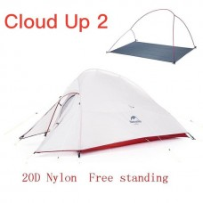 Lozkis Cloud Up Series Ultralight Camping Tent Waterproof Outdoor Hiking Tent 20D Nylon Backpacking Tent With Free Mat