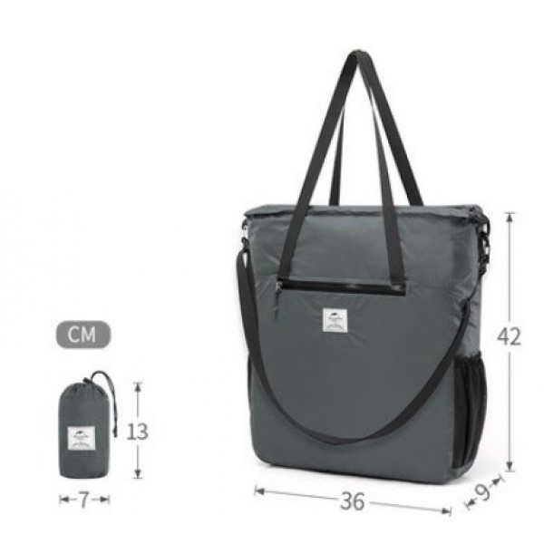 Lozkis Foldable Lightweight Silicon Tote Bag Water-resistant Sport Bag Crossbody Bags 18LNH18B500-B